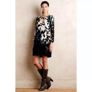 Anthro Maeve Floral Shaded Garden Shift Dress